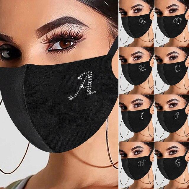 K letter luxury black mesh veil rh