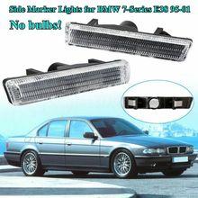 2 Pcs Auto Fahrzeug Vorne Links + Rechts Blinker Licht Seite Marker Lampe KEINE Lampe Enthalten Für BMW 7 serie E38 1995-2001