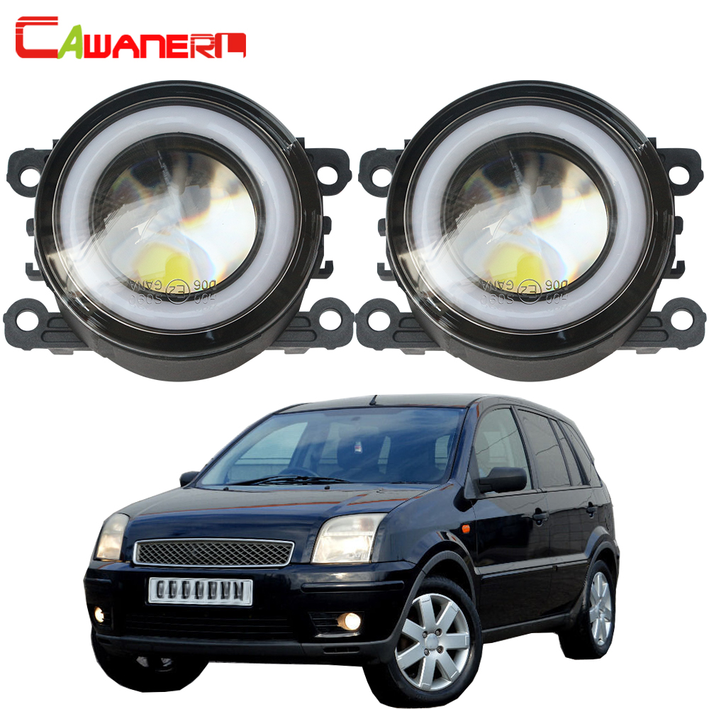 Cawanerl For Ford Fusion Estate JU Car LED Fog Light COB Angel Eye Daytime Running Lamp 12V 2002 2003 2004 2005 2006 2007 2008