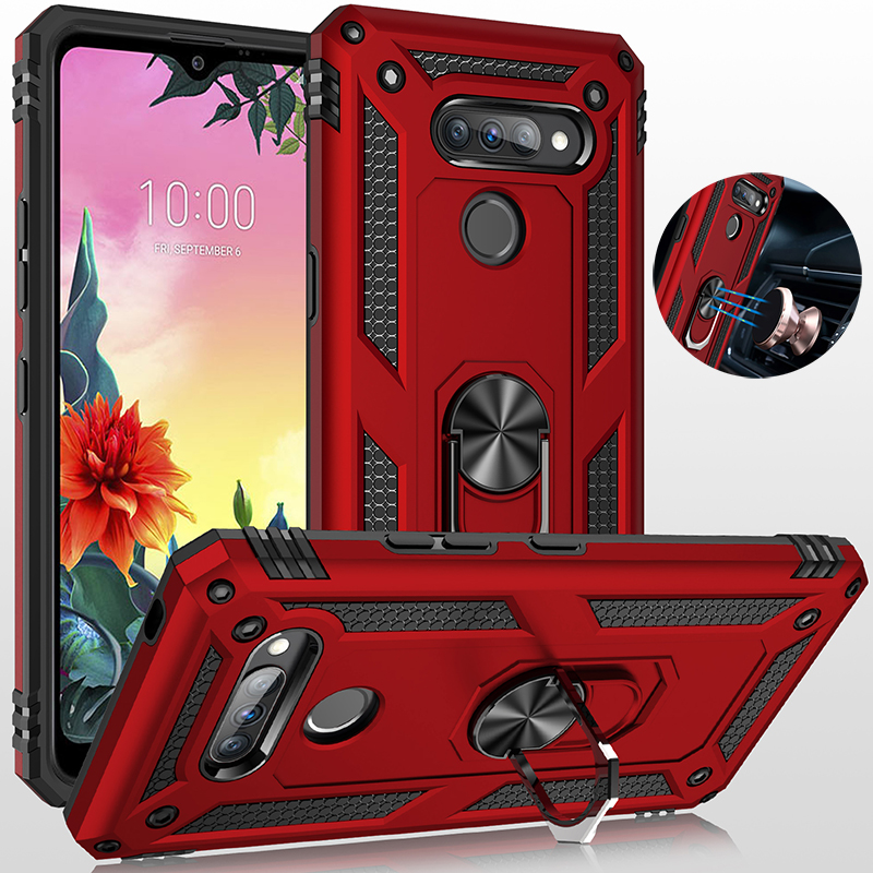 Armor Case For LG Aristo 2 3 4 5 Plus X210 X415 X320 X220 Metal Ring Holder Stand Magnetic Cover For LG K10 K30 K40 K50 Q60 X4