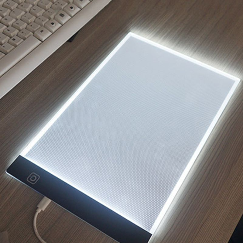 A4 LED Light Graphic Tablet for Drawing Board Panel Luminous Stencil Tracing Pad M0XB