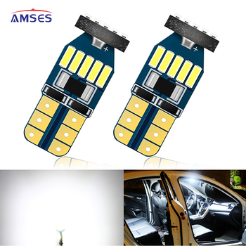 2Pcs T10 LED W5W Canbus LED Bulbs 168 194 Car Interior Dome Reading License Plate Light for Audi A4 B8 A3 8P B6 B7 BMW E60 E36 image