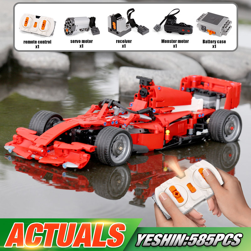 Yeshin MOC Motor Function Cars The Technic Motor Car F1 Speed Racing Car Building Blocks Bricks Assembly Car Model Kids Toys image