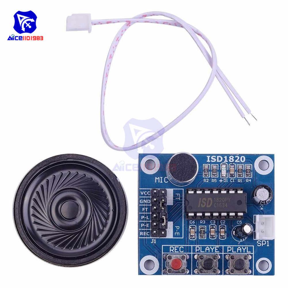 Diymore ISD1820 dźwięk nagrywanie głosu moduł odtwarzania Mic dźwięk Audio Telediphone Board z głośnikiem wbudowany mikrofon