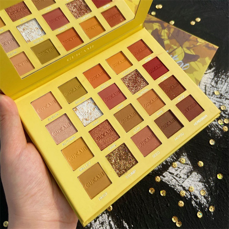 Twenty-Color Eyeshadow Pearly Lustre Matte Composite Waterproof Easy To Color