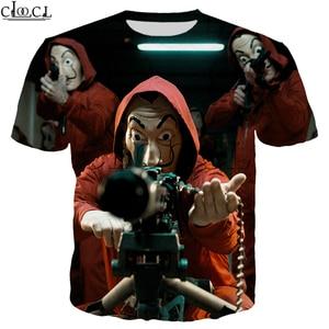 Image 2 - La Casa De Papel T Shirt 3D Print Women Men Short Sleeve Sweatshirts Money Heist The Paper House Casual Streetwear Tops