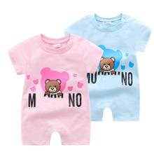 Summer newborn baby clothes short sleeve cartoon cotton todd