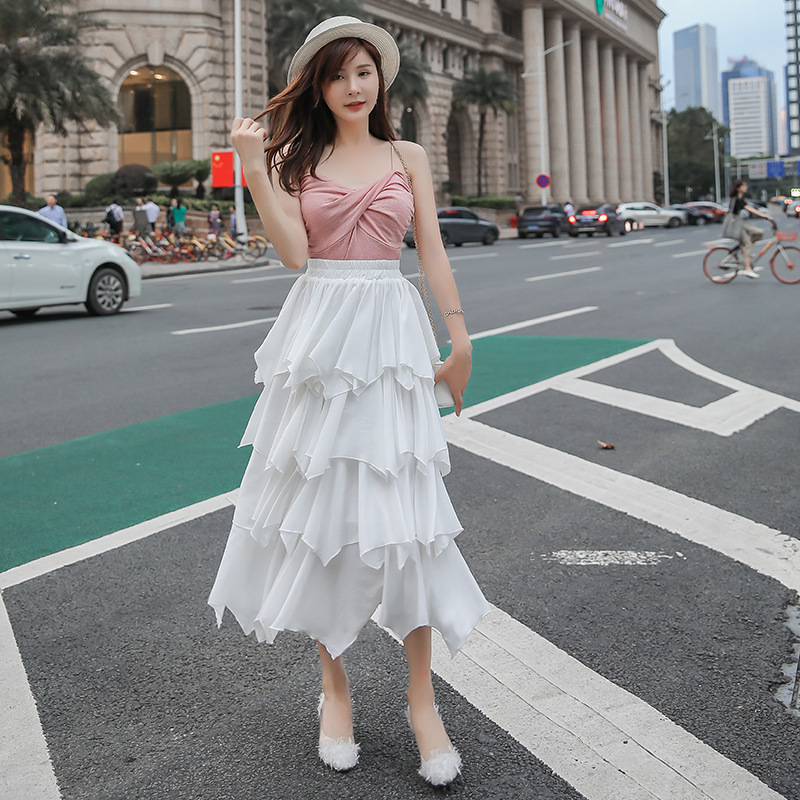 Autumn And Winter Women's 2019 New Style 2019 New Style High Quality Fang Tian Si Cake Dress Women's