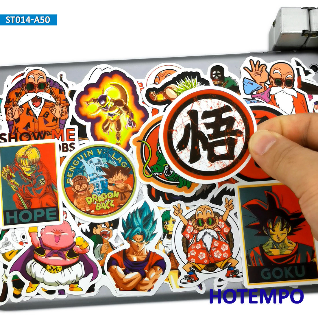 50pcs Not Repeat Anime Goku Dragon Ball Stickers For DIY Mobile Phone Laptop Luggage Suitcase Guitar Skateboard Decal Stickers