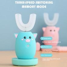 Kinder 360 Grad Sonic Intelligente Automatische Elektrische Zahnbürste 3 Modi Wiederaufladbare U Typ Zahnbürste Für Kinder Beste Geschenk