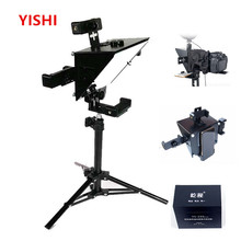 2020 New YISHI Portable Prompter Smartphone Teleprompter for News Live Interview Speech for DSLR Cameras/Mobile Phone