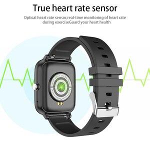 Image 4 - Cobrafly P6 Smartwatch 남자 여자 1.54 인치 화면 20MM 시계 블루투스 전화 IP67 방수 심박수 모니터 PK P8 P20 HW12