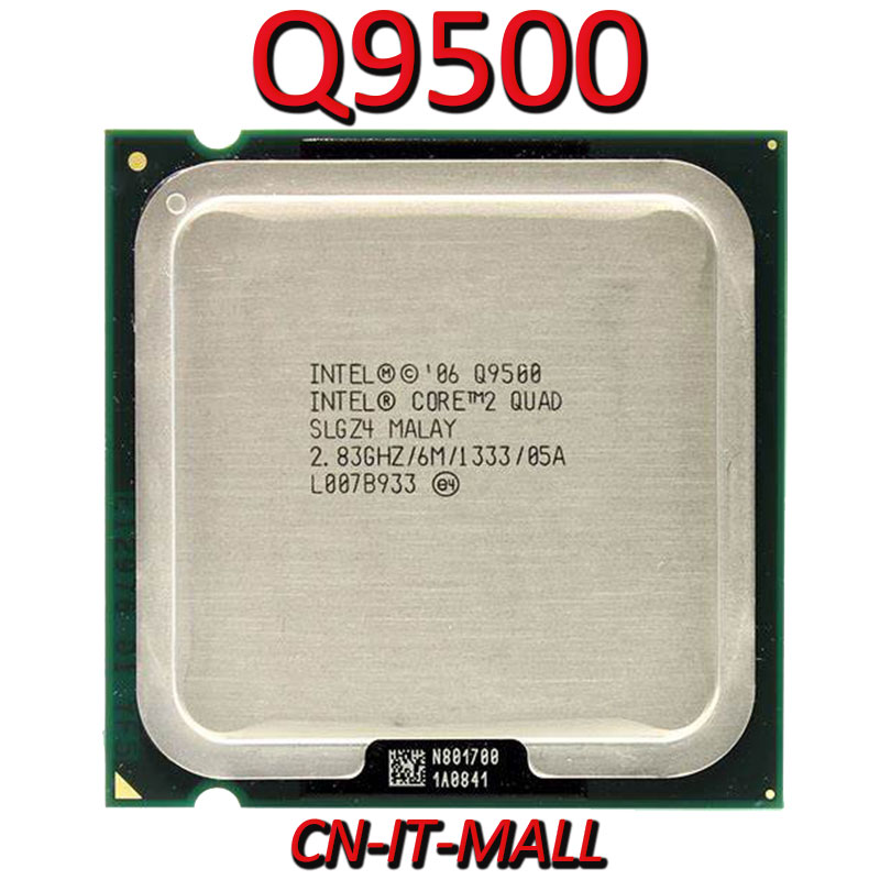 Intel Core Q9500 CPU 2.83G 6M 4 Core 4 Thread LGA775 Processor