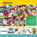 Наборы строительных блоков 450 шт 1000 шт классический создатель города красочные Кирпичи DIY детские развивающие игрушки для детей