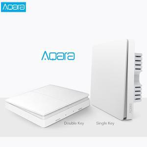 Image 1 - Aqara switch Smart Light Control Fire Wire Zero Line ZiGBee Double Single Key Wall Switch Version Mi Home APP Control