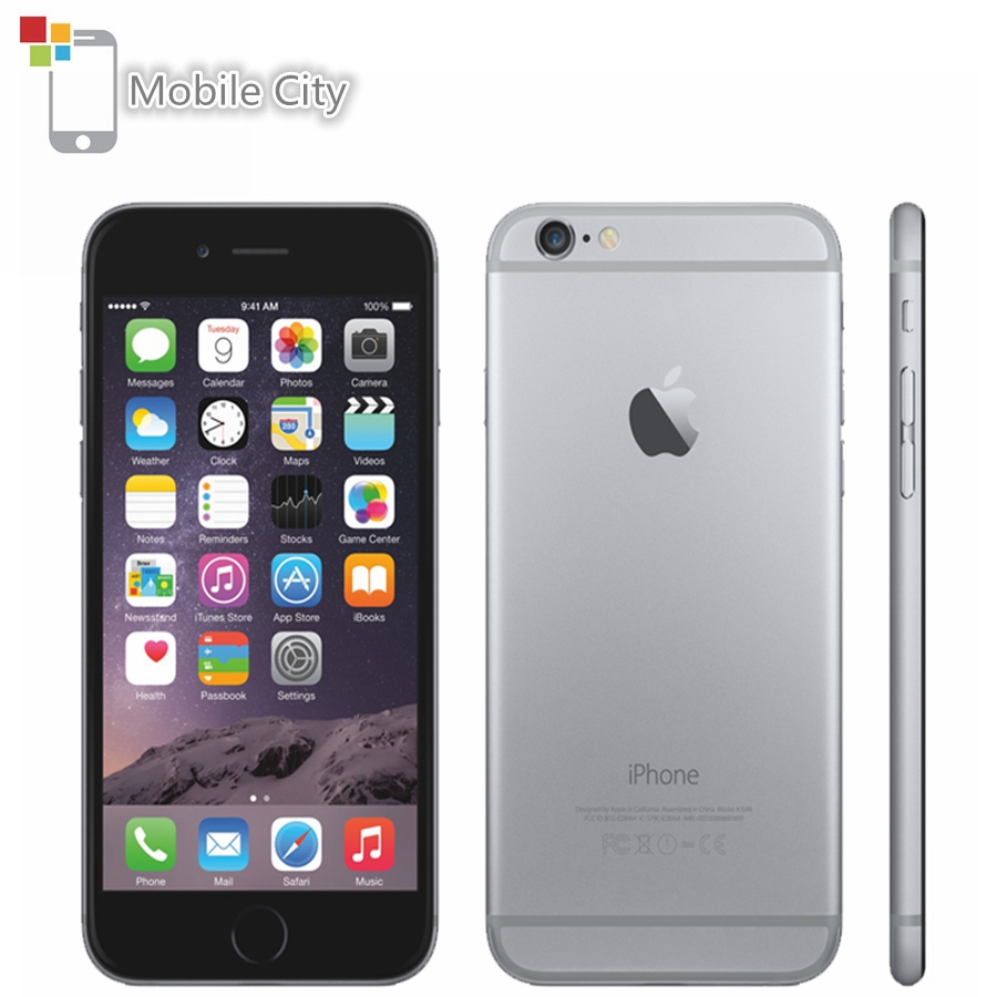 Apple iPhone 6 Plus Mobile Phone 5.5 inch Screen 16GB/64GB/128GB ROM Dual-core 8MP Camera Fingerprint 4G LTE Unlocked Smartphone image