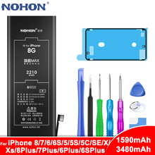 NOHON Phone Battery For iPhone 8 7 6 6S Plus 5 5S