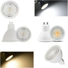 10X COB LED Spotlight Dimmable 7W GU10 MR16 GU5.3 Bulbs AC 110V 220V Light Lamp 30 Beam Angle For Home Lighting Cool Warm White