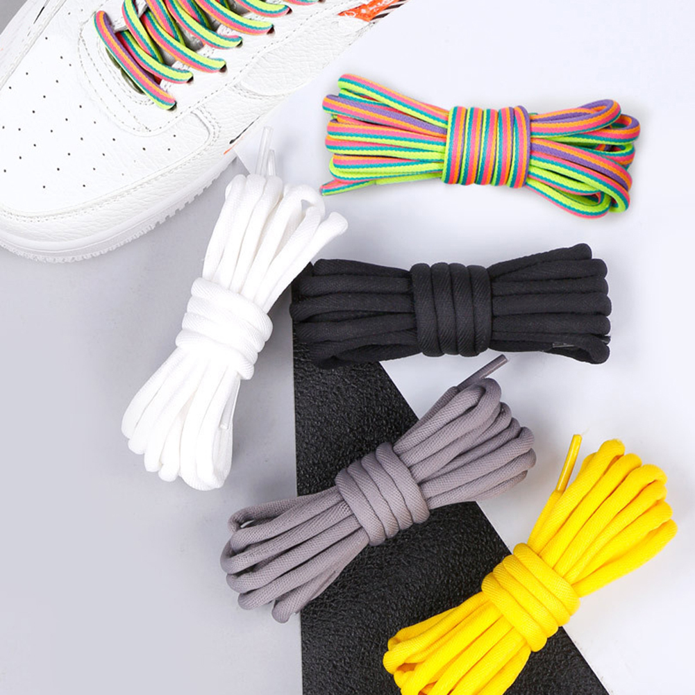1Pair Round Shoelaces Polyester Solid Classic Martin Boot Shoelace Casual Sports Boots Shoes Lace 120cm 14 Colors