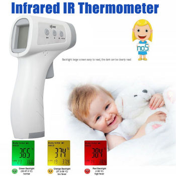 Family Digital Infrared Forehead Body Thermometer Gun Non-contact Temperature Measuring (Without Battery)