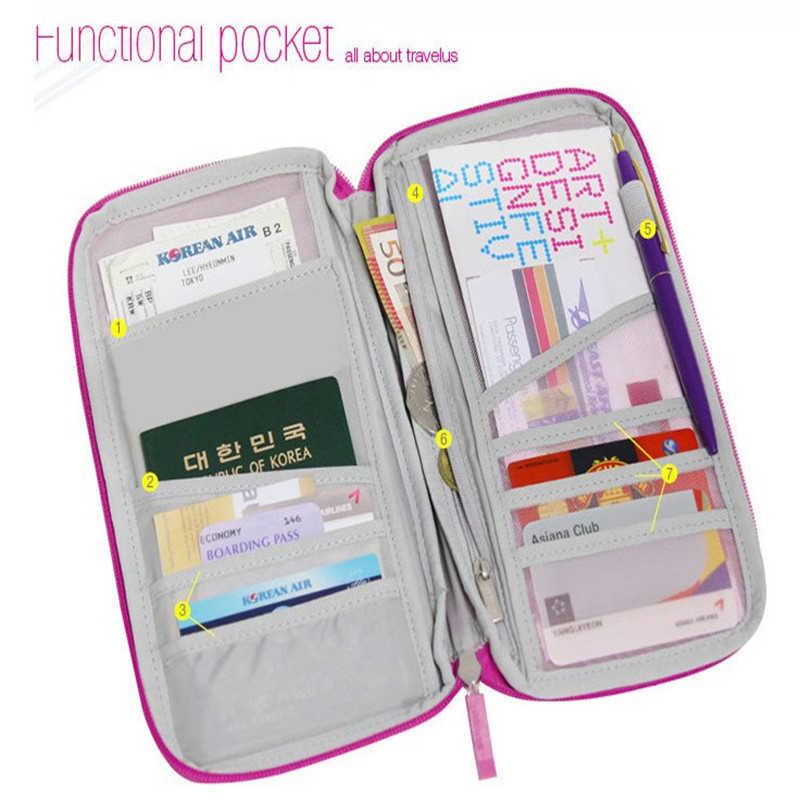 Folder Dokumen Tas Fungsional Ayat Panjang Pemegang Tiket Cetak Kartu Paket Perjalanan Paspor File Paket Zipper