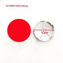 цена на Car Wheel Center Caps For BMW X5X6 Wheel Center Hub Caps Car Wheels Tires Parts  Automobile Rim Hub Dust-proof Decoration Badge