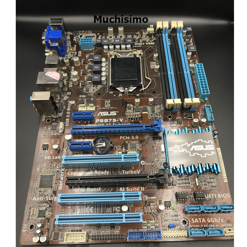 Asus LGA 1155 P8B75-V Original Desktop Motherboard Intel B75 Socket I3 I5 I7 DDR3 32G SATA3 USB3.0 AT,100% Tested Mainboard Used