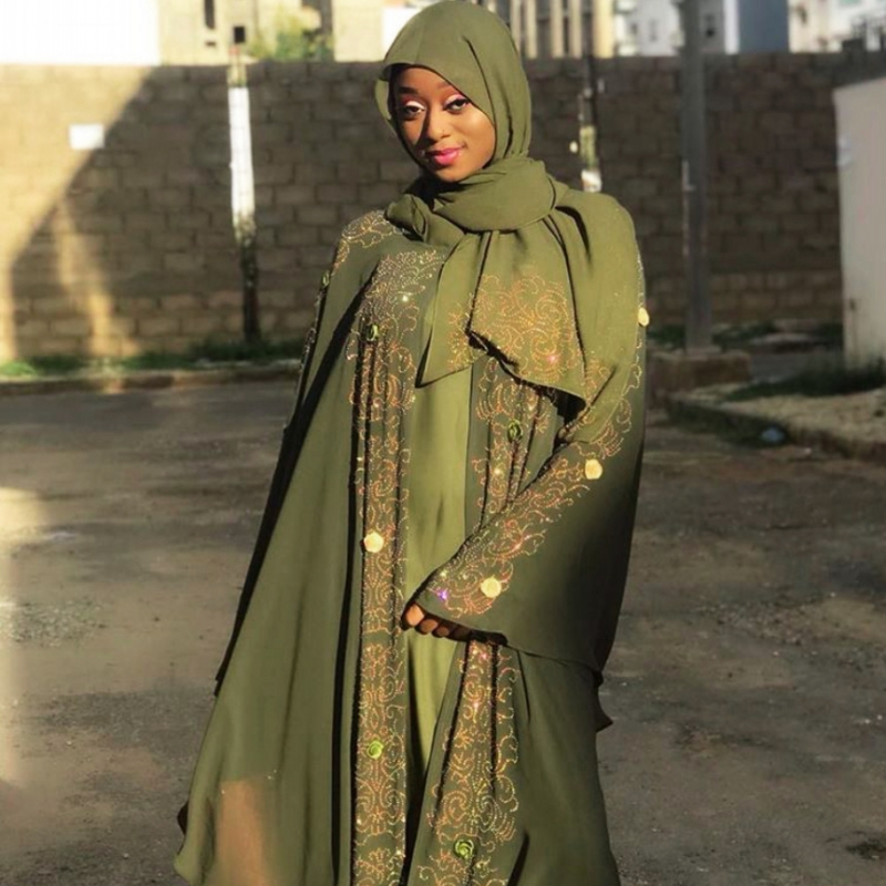 2020 Africa Clothing African Dresses For Women Muslim Long Dress High Quality Length Fashion African Dress For Lady And Scarf