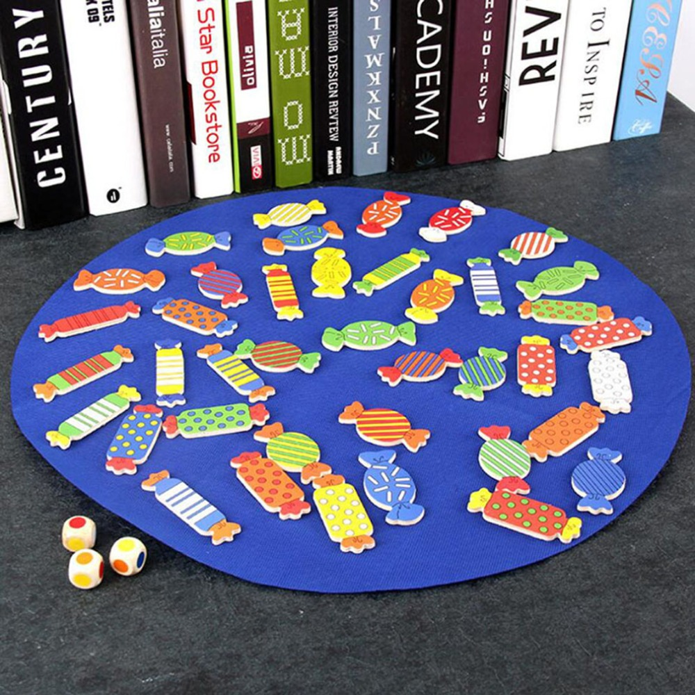 Wooden Children Puzzle Training Toy Board Game Chess Memory Matching Game Looking Candy Shape Learning & Education Puzzle Toy