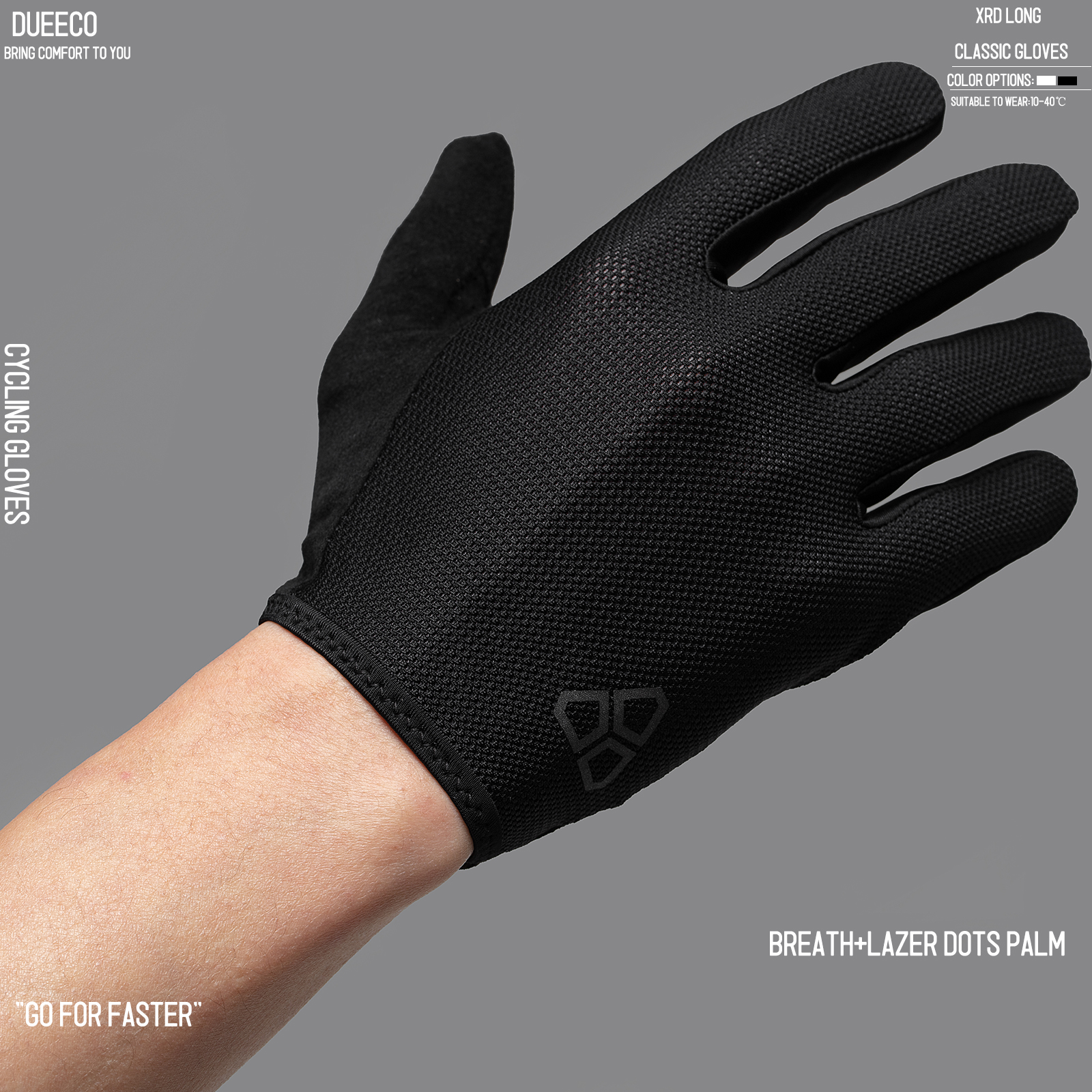 Full Finger Bicycle Gloves MTB MX Gloves XRD Pad Shock Absorbing Non-Slip Touch Screen Design For Men And Women