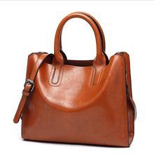 Goodinc Leather Handbags Women Big Capactity Tote Bag High Quality Casual Shoulder Bags Ladies Bolsa цена 2017