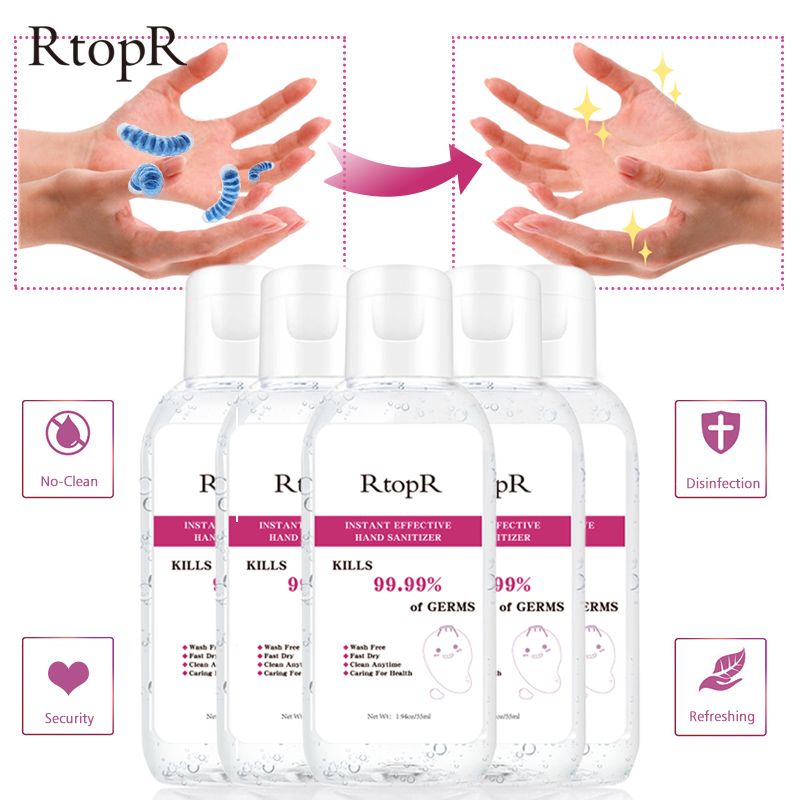 5PCS Hand Sanitizer Disposable Quick-dry 99.9% Antibacterial Disposable Disinfection Gel Portable Wipe Out Bacteria 75% Alcohol