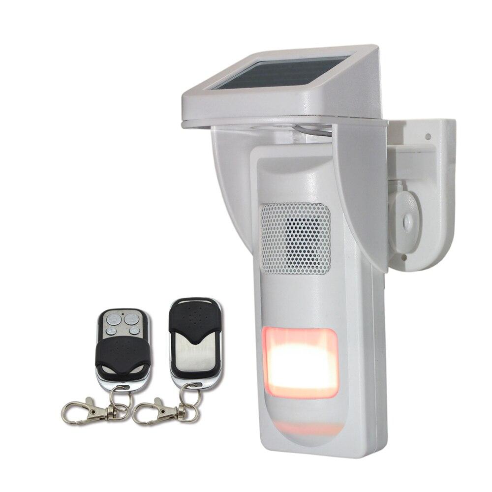 Solar Battery Outdoor Infrared Motion Detector Alarm Sensor For Garden Voice Recorder Wireless 433mhz Remote Flash Siren IP65