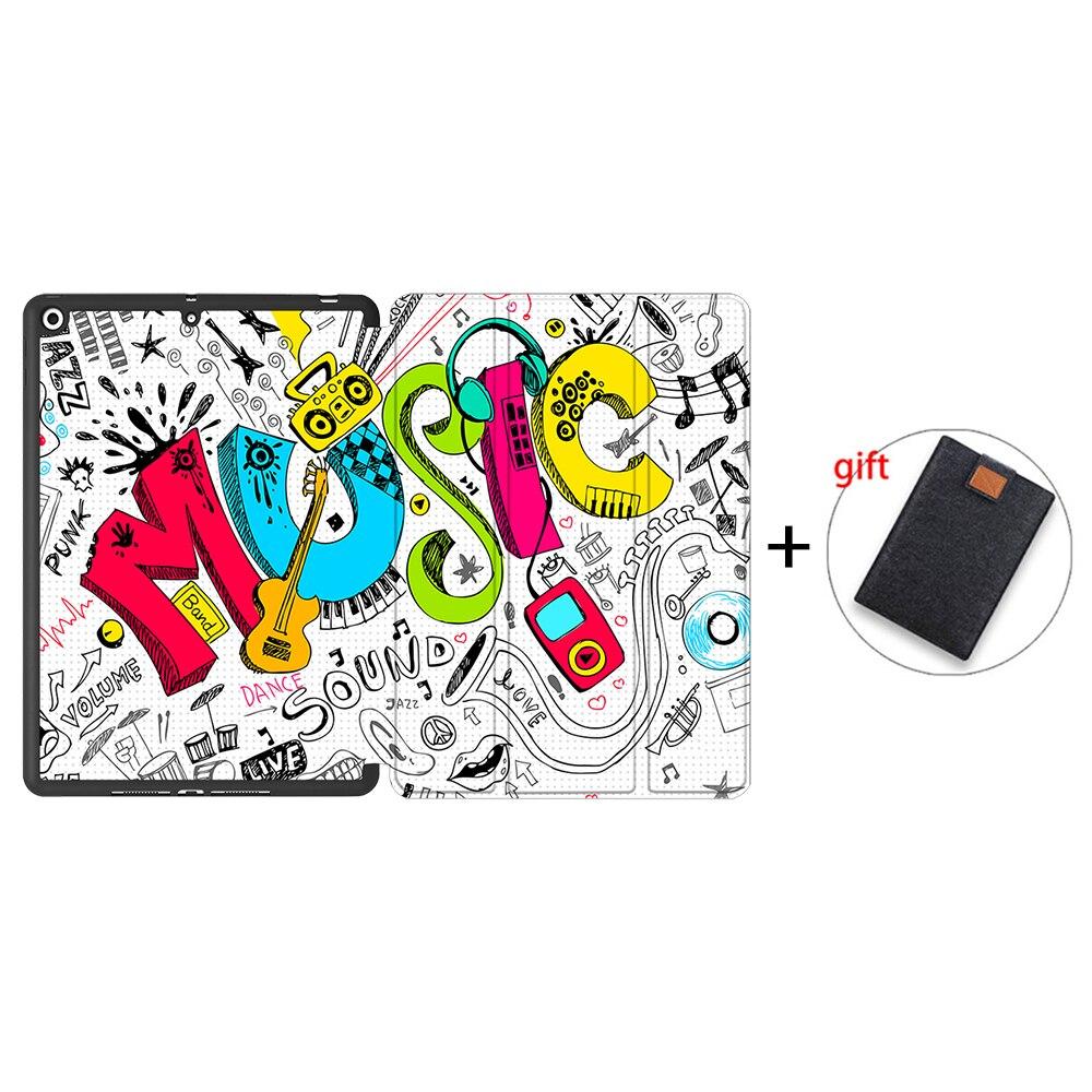 IPBC07 Purple MTT Tablet Case For iPad 10 2 inch 7th 8th Generation 2020 Soft TPU PU Leather