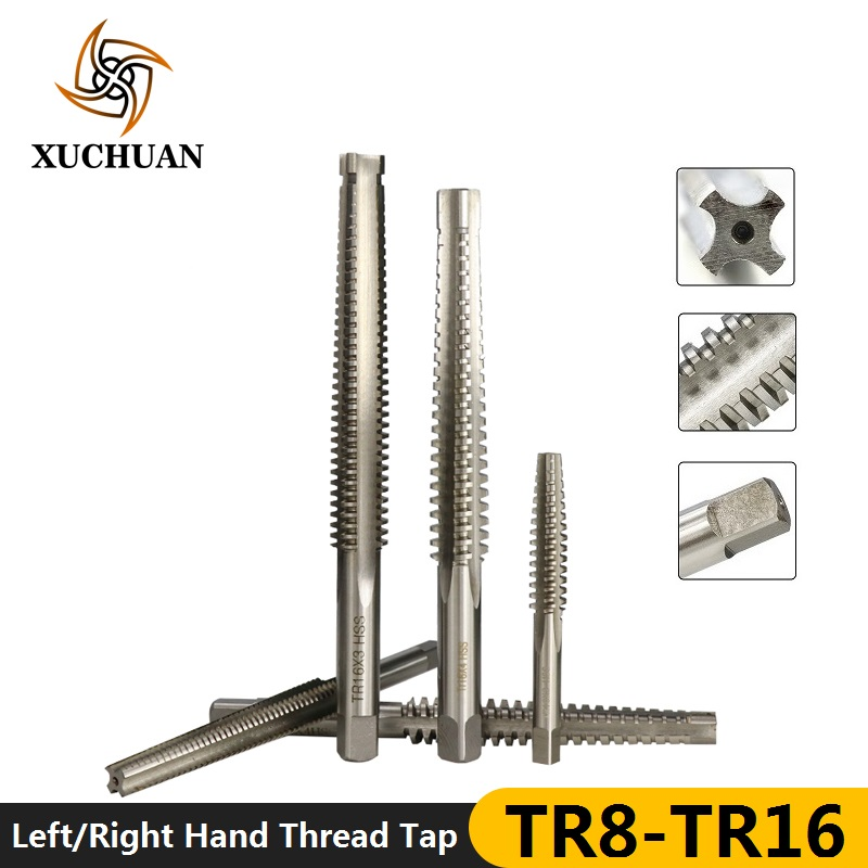 1pc TR8-TR16 Left/Right Hand Machine Trapezoidal Tap HSS Plug Tap Screw Tap Drill Machine Thread Tap