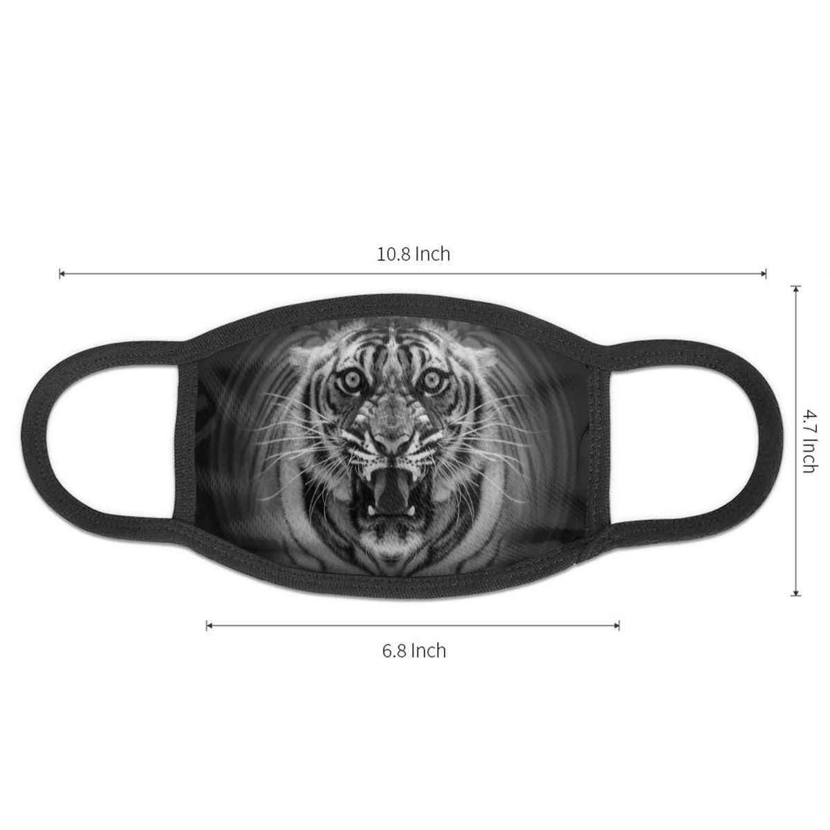NOISYDESIGNS Fashion Mask Unisex Anti Dust Mouth Mask Cool Tiger Design Face Mask For Outdoor Riding Clothing Accessories