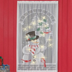 Curtain LED Lighted Snowman La