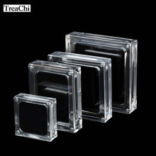 Acrylic Magnet Diamond Pendant Jewelry Storage Box Transperant Diamond Gem Display Organizer Gift Jewelry Box Double-sided