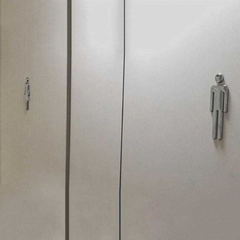 المرحاض/الحمام/الحمام/مرحاض/WC الباب علامات جدار لافتات رجل وامرأة مجلس موجه تسجيل جدار الأبواب اكسسوارات الديكور