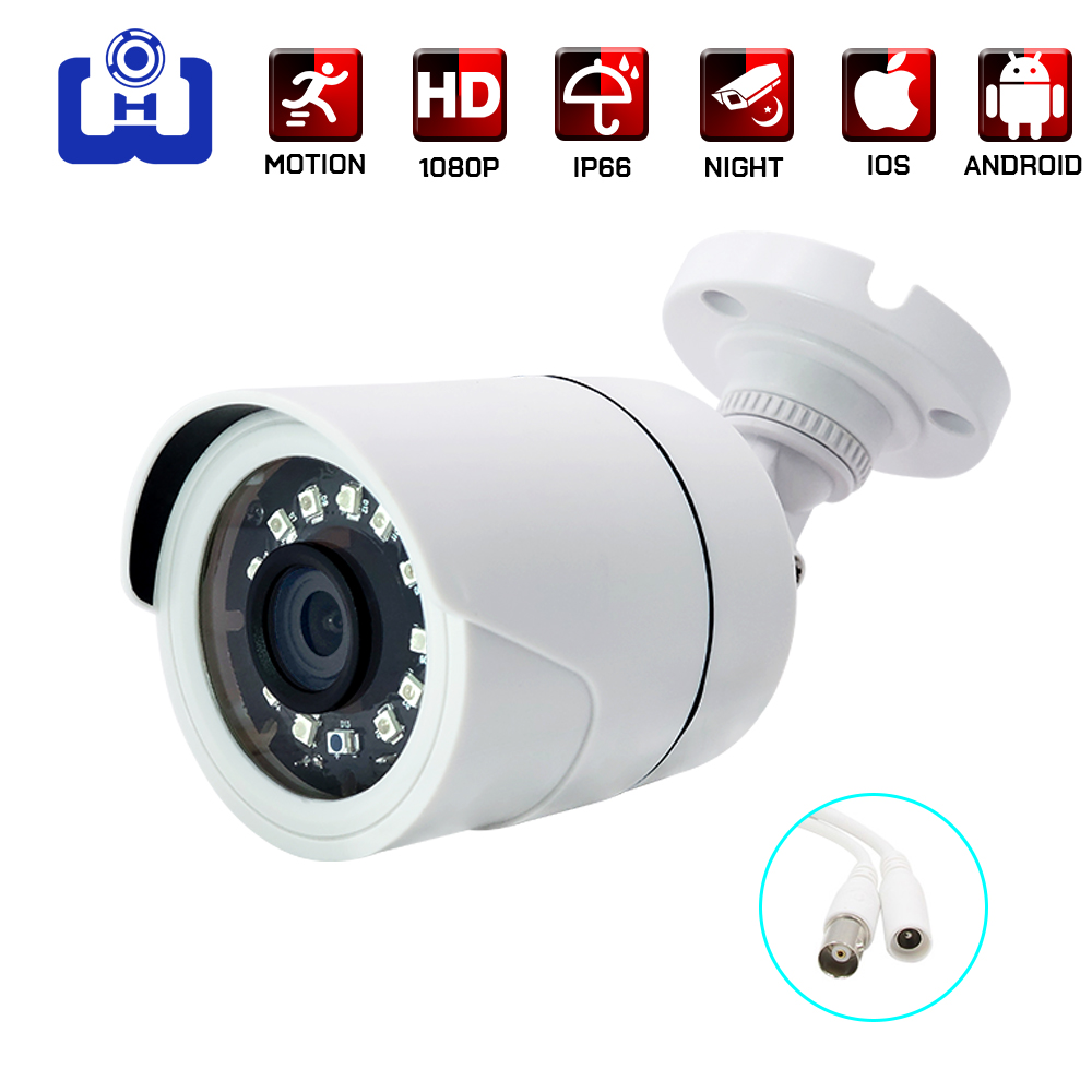 1080p/5mp Ahd Camera Home Outdoor Security Analog Cctv Bullet Video Surveillance Camera Infrared Night Vision CCTV Cameras
