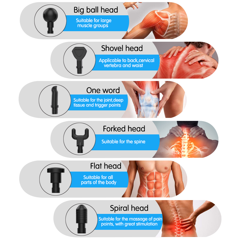 Person - Electric Muscle Massage Gun Deep Tissue Massager LCD Vibration Muscle Relaxation Full Body Massager Handheld