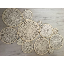 1 set DIY tapestry wall hanging Lace Dream Catcher Set Wedding Background Decoration mexican party decorations boho wall hanging