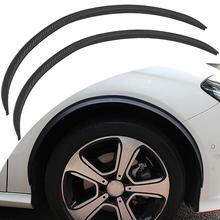 Car Wheel Eyebrow Trims Carbon Fiber Soft rubber Round Arc Decorative Strip Car Fender Flare Protector Lip Sticker Trim стоимость