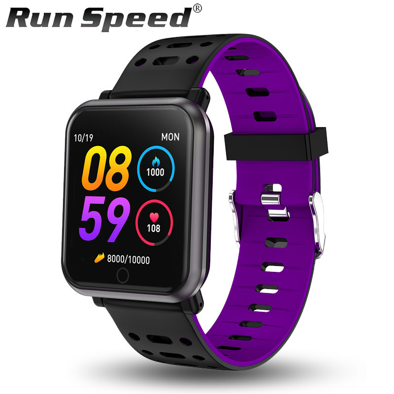 Run Speed R11 Smart Watch Fitness Tracker IP68 Waterproof Women Sport Smartwatch Clock Blood Pressure Men Watch for ios Android