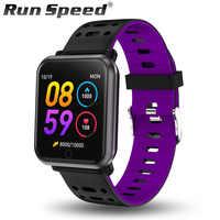 Run Speed R11 inteligentny monitor aktywności fizycznej w zegarku IP68 wodoodporny kobiety smartwatch sportowy zegar ciśnienie krwi mężczyźni zegarek dla ios Android