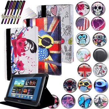 KK&LL For Samsung Galaxy Note 10.1 N8000 n8010 - Leather Tablet Stand Folio Cover Case + Free stylus