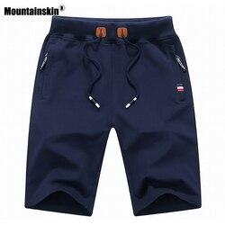 Mountainskin 2020 однотонные мужские шорты летние мужские пляжные шорты хлопковые повседневные мужские спортивные шорты homme брендовая одежда SA932