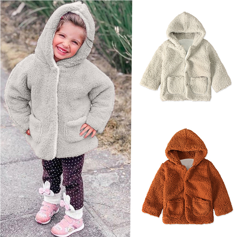Baby Infant Girl Winter Warm Hooded Coat Cloak Jacket Top Thick Soft Clothes LOT