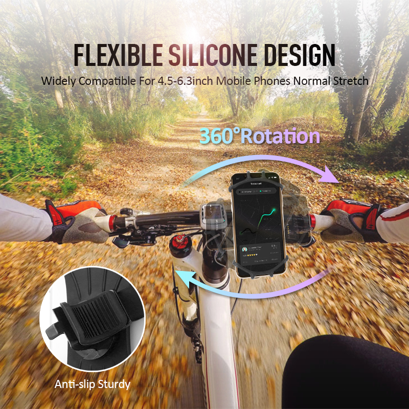 Bracket For Bicycle Phone Motorcycle Handlebar Mount Adjustable Holder For 4.0