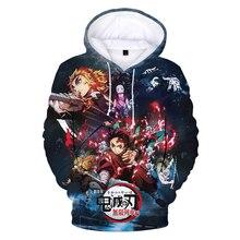 2020 Demon Slayer 3D Print Hoodie Sweatshirts Men Women Fashion Casual Anime Pullover Unisex Harajuku Streetwear Cool Hoodies